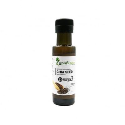 МАСЛО ОТ СЕМЕНА ОТ ЧИА - източник на Омега-3 мастни киселини - 100 мл