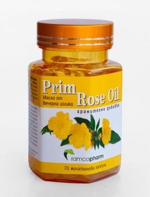 МАСЛО ОТ ВЕЧЕРНА ИГЛИКА- поддържа естествения женски хормонален баланс - желатинови капсули х 70, RAMCOPHARM