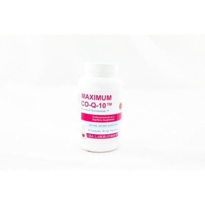 МАКСИМУМ КОЕНЗИМ Q 10 - при трудно дишане, сърцебиене, лесна уморяемост - капсули х 60,  USA LABORATORIES