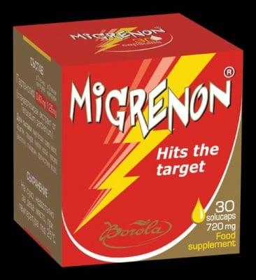 МИГРЕНОН - премахва главоболието - течни капсули 720 мг. х 30, BOROLA