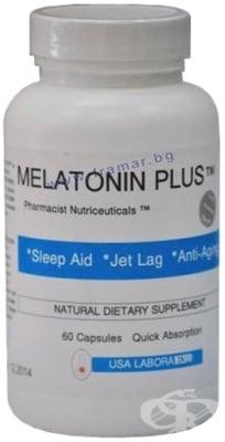 МЕЛАТОНИН ПЛЮС -  За поддържане на общото здравословно състояние - капсули х 60, USA LABORATORIES