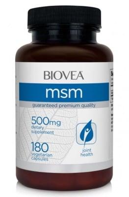 МСМ - намалява ставните възпаления - капсули 500 мг. х 180, BIOVEA
