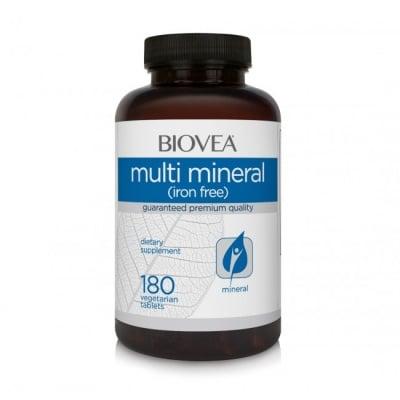 МУЛТИ-МИНЕРАЛИ за правилна обмяна на веществата и добро храносмилане * 180таблетки, БИОВЕА