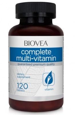 МУЛТИВИТАМИНИ КОМПЛЕКС - осигурява нужните витамини и минерали - таблетки х 120, BIOVEA