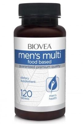 МУЛТИВИТАМИНИ МЪЖЕ - витамини, минерали, микроелементи и хранителни вещества - таблетки х 120, BIOVEA
