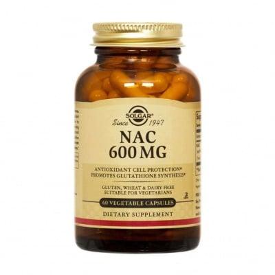 Н - АЦЕТИЛ ЦИСТЕИН 600 мг. подпомага детоксикацията на организма от тежки метали * 60капсули, СОЛГАР