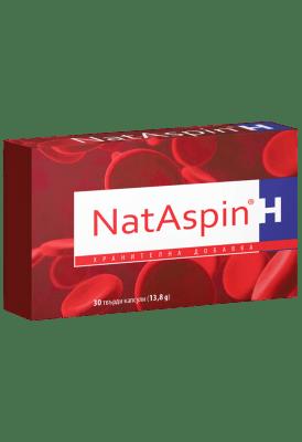 НАТАСПИН при циркулаторни нарушения или повишен риск от тромбоза * 30капсули