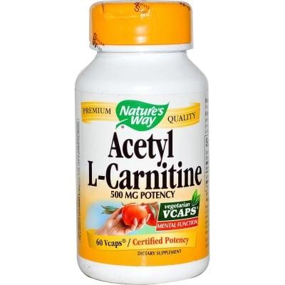 АЦЕТИЛ L - КАРНИТИН -  поддържа умствената дейност, подпомага функциите на нервната система - капсули 500 мг х 60