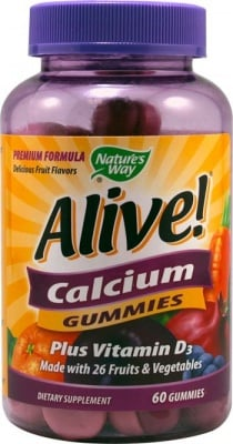 АЛАЙВ КАЛЦИЙ + ВИТАМИН Д - подобрява мускулните функции и повишава имунитета - таблетки х 60, NATURE'S WAY
