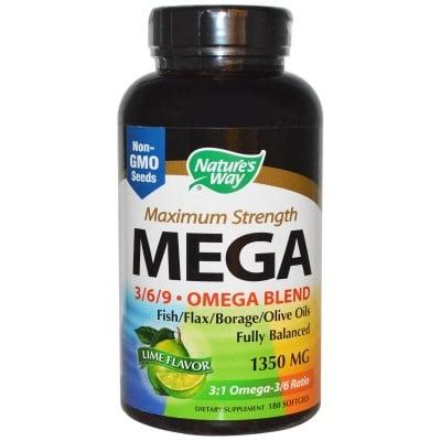 МЕГА ЕФА БЛЛЕНД - за здравето на ставите и сърдечно-съдовата система - капсули 1350 мг х 90, NATURE'S WAY