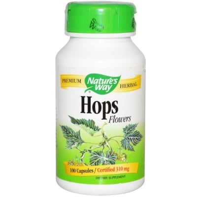 ХМЕЛ ЦВЯТ -  подпомага храносмилането, тонизира - капсули 310 мг. х 100, NATURE'S WAY