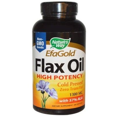 ЛЕНЕНО МАСЛО - подсилва имунитета, регулира нивата на холестерола - капсули 1300 мг. х 200, NATURE'S WAY