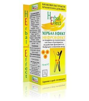 НЕФРОЕФЕКТ - ХЕРБАЛ ЕФЕКТ - подпомага пикочния мехур, бъбреците и отделителната система, течна форма 70 мл., МИРТА МЕДИКУС