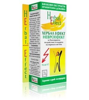 НЕВРОЕФЕКТ - ХЕРБАЛ ЕФЕКТ - за укрепване на нервната система, течна форма 70 мл., МИРТА МЕДИКУС