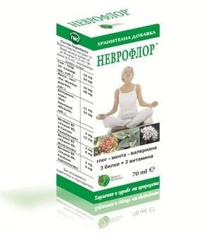 НЕВРОФЛОР - подобрява дейността на нервната система, течна форма 70 мл., МИРТА МЕДИКУС