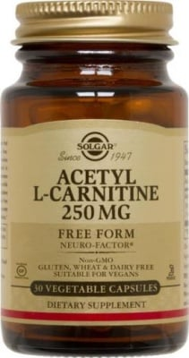АЦЕТИЛ L - КАРНИТИН  250 мг. за подобряване паметта и вниманието* 30капс., СОЛГАР