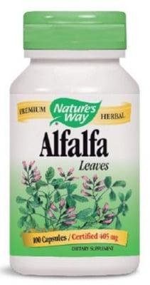 АЛФАЛФА ЛЮЦЕРНА - подобрява естрогенния баланс и храносмилането - таблетки 405 мг. х 100, NATURE'S WAY