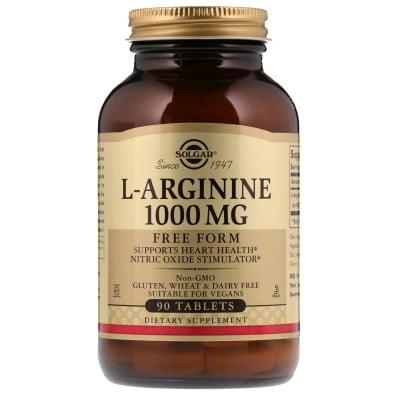 L - АРГИНИН 1000 мг. за производството на мускулна енергия * 90табл., СОЛГАР