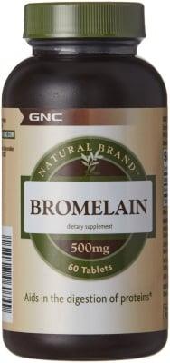 БРОМЕЛАИН 500 мг. * 60таблетки, GNC
