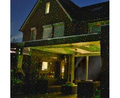 GLOW BRIGHT LASER LIGHT - Лазер тип прожектор за украса, ТЕЛЕСТАР