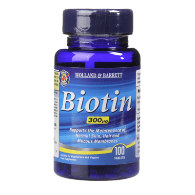 БИОТИН (ВИТАМИН Б 7) таблетки 300 мкг * 100 HOLLAND & BARRETT