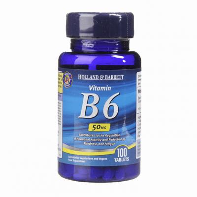 ВИТАМИН Б 6 таблетки 50 мг * 100 HOLLAND & BARRETT
