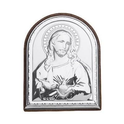ПОСРЕБРЕНА ИКОНА ИСУС ХРИСТОС - VAKENTI