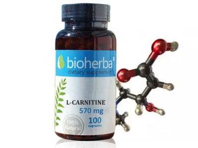 L-КАРНИТИН 570 мг. - 100капс., БИОХЕРБА