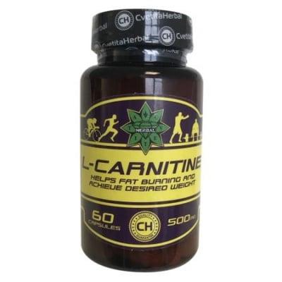L-КАРНИТИН 500 мг. * 60капсули, ЦВЕТИТА ХЕРБАЛ