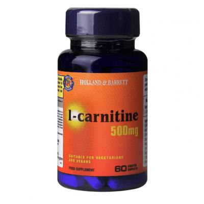 L-КАРНИТИН каплети 500 мг * 60 HOLLAND & BARRETT