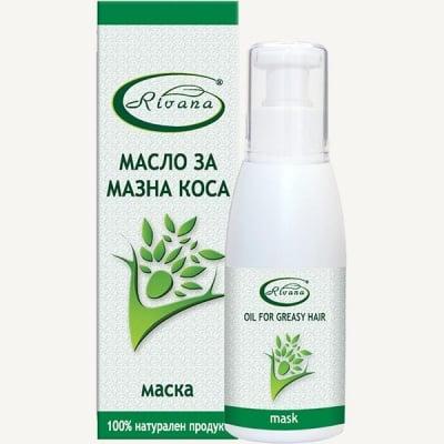 МАСЛО МАСКА ЗА МАЗНА КОСА - за регулиране на омазняването - 100 мл., РИВАНА