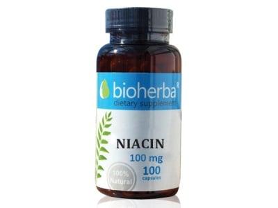 ВИТАМИН Б3 НИАЦИН 100 мг. - 100капс., БИОХЕРБА