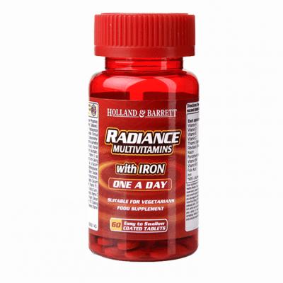 МУЛТИВИТАМИНИ С ЖЕЛЯЗО РАДИАНС таблетки * 60 HOLLAND & BARRETT