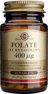 ФОЛАТ 400 мкгр. помага за формирането на червени кръвни клетки * 50таблетки, СОЛГАР