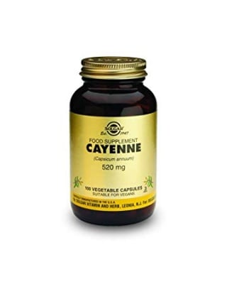 ЛЮТ ЧЕРВЕН ПИПЕР 520 мг. облекчава стомашните киселини * 100капс., СОЛГАР