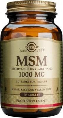 МЕТИЛСУЛФОНИЛМЕТАН 1000 мг. за здрави коса и нокти * 60табл.,  СОЛГАР