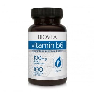 ВИТАМИН B6 - подкрепя развитието и нормалното функциониране на мозъка -  таблетки 25 мг. х 90, BIOVEA