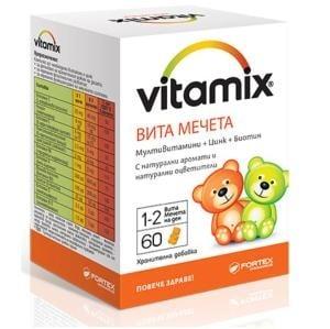 ВИТАМИКС ВИТА МЕЧЕТА - Мултивитамини + Цинк + Биотин *60 бр., ФОРТЕКС