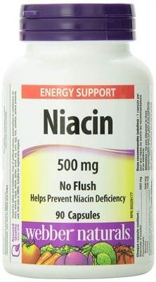 НИАЦИН 500 мг за контрол на холестерола * 90 капсули