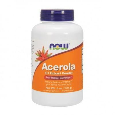 АЦЕРОЛА - отличен източник на Витамин C - прах х 170 гр., NOW FOODS