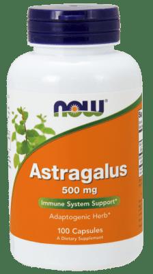 АСТРАГАЛУС - Подсилва оздравителните процеси и дейността на сърдечно-съдовата система - капсули 500 мг. х 100, NOW FOODS