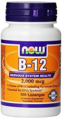 ВИТАМИН B12 - подкрепя сърдечно-съдовата система - дражета 2000 мкг х 100, NOW FOODS