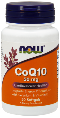 НАУ ФУДС КОЕНЗИМ Q10 50 мг. + ВИТАМИН Е дражета * 50