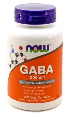 ГАБА + Витамин В6 – за спокоен сън и здрава нервна система – капсули 500 мг. х 100, NOW FOODS
