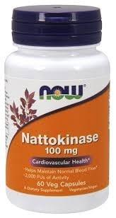 НАТОКИНАЗА 100 мг. подобрява циркулацията на кръвта * 60капс., НАУ ФУДС
