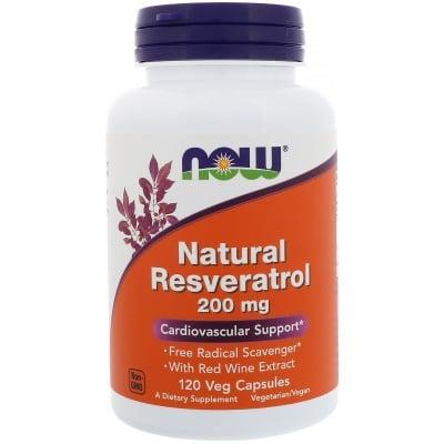 НАТУРАЛЕН РЕСВЕРАТРОЛ 200 мг. за здравето на клетките * 120капсули, НАУ ФУДС
