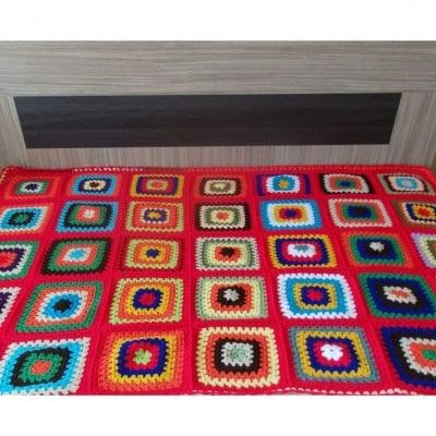 Одеало July morning - ръчно плетено на една кука