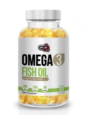 ОМЕГА-3 РИБЕНО МАСЛО 480 EPA / 240 DHA подобрява съотношението между лошия и добрия холестерол* 300драже, ПЮР НУТРИШЪН