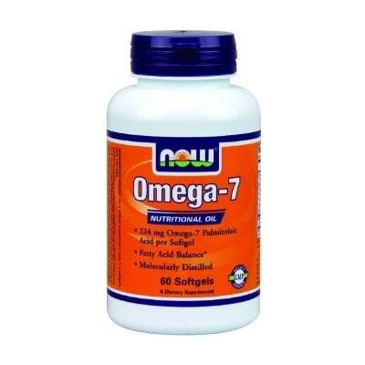 ОМЕГА - 7 224 мг. участва в метаболизма на чернодробните мастни киселини и въглехидратите * 60драже, НАУ ФУДС