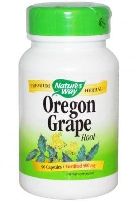 ОРЕГОНСКО ГРОЗДЕ - подобрява състоянието на стомашно-чревния тракт - капсули 475 мг. х 100, NATURE'S WAY